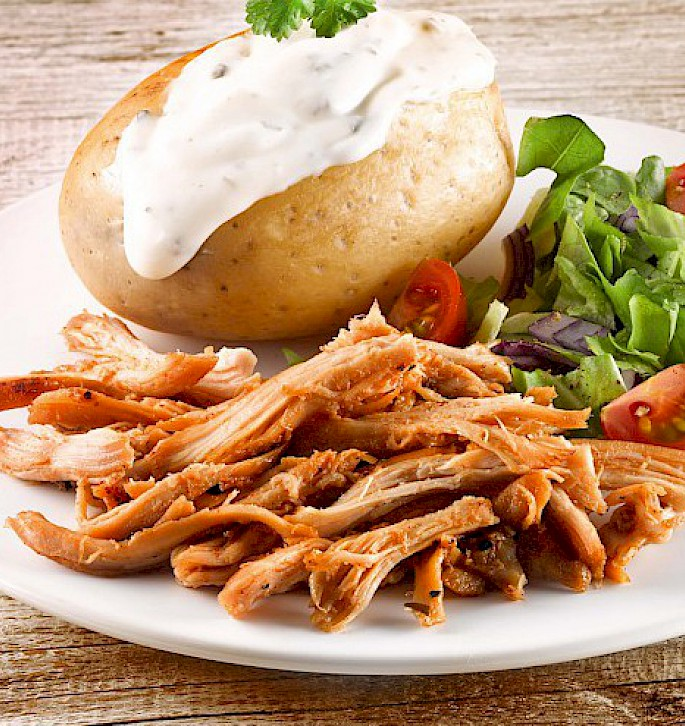 Pulled Chicken, ungezupft